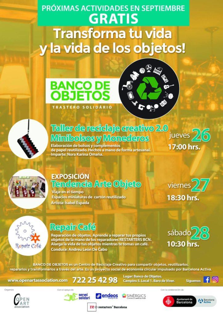 ELABORACIÓN DE BOLSOS Y COMPLEMENTOS CON PAPEL REUTILIZADOElaboración de bolsos y complementos de papel reutilizado hechos a mano de forma artesanal JUEVES 26 DE SEPTIEMBRE 17h.