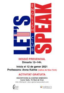 ENGLISH CLUB Let´s speak @ Coworking Sinergics Baró de Viver
