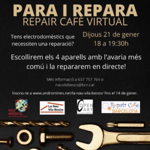 REPAIR CAFE BARCELONA Virtual @ NAU VILA DE BÈSOS