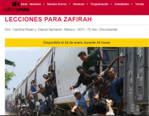 Película documental LECCIONES PARA ZAFIRAH